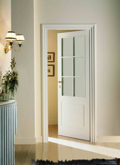 Дверь с одной филенкой и стеклами