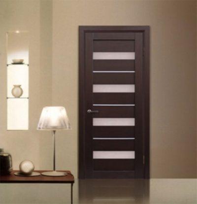 Шпонированные двери в современном стиле