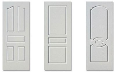 Белые двери с филенками