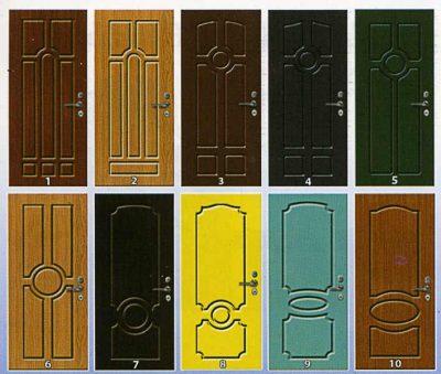 Каталог панелей МДВ разных цветовых гамм