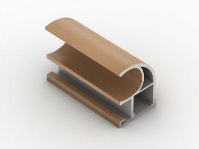 Профиль ручка для межкомнатных дверей-купе