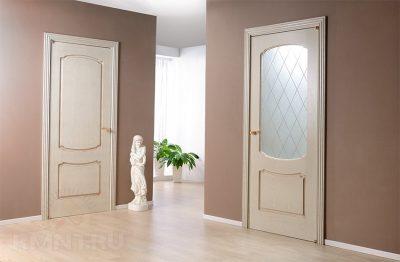 Межкомнатная современная дверь в стиле прованс