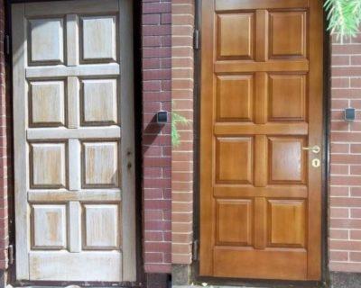 Реставрация дверей: до и после