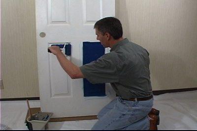 Окраска двери