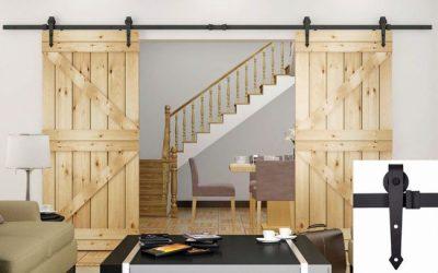 Простой и оригинальный механизм двухстворчатых дверей