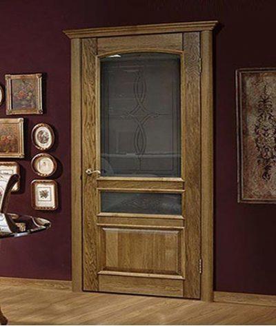 Дуб натуральный, дверь, сделанная навека