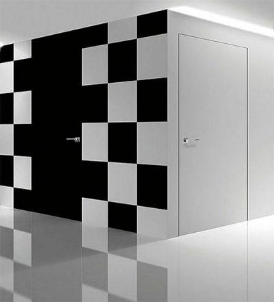 Скрытая дверь в коробке без наличника