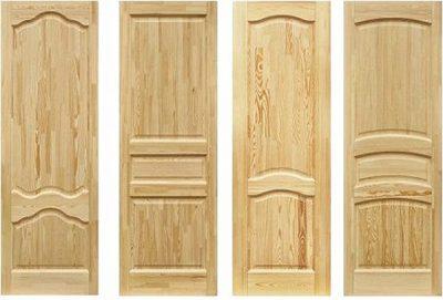 Деревянное дверное полотно из клееного бруса под покраску