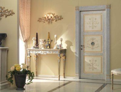 Роскошный внешний облик дверной конструкции в интерьере жилища