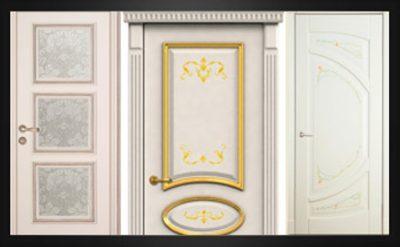 Дизайнерские двери цвета слоновой кости