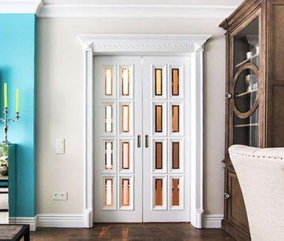 Дизайнерские двухстворчатые двери