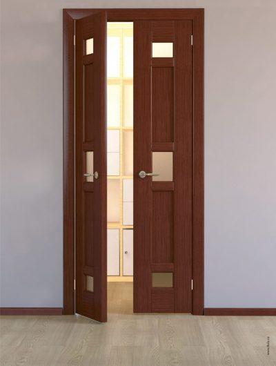 Двухстворчатая узкая дверь