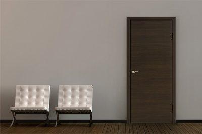 Шпонированные двери эконом-класса серии Флэт