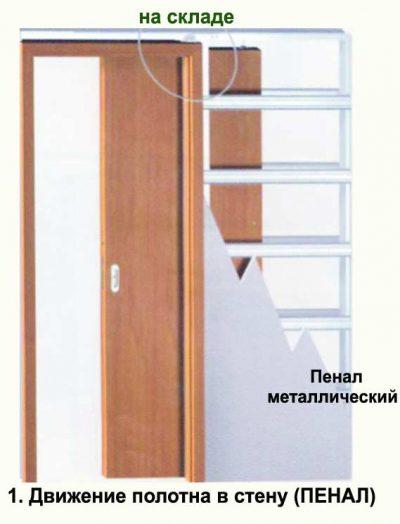 Схема конструкции дверного короба в стене