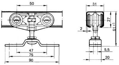 Схема устройства роликового механизма