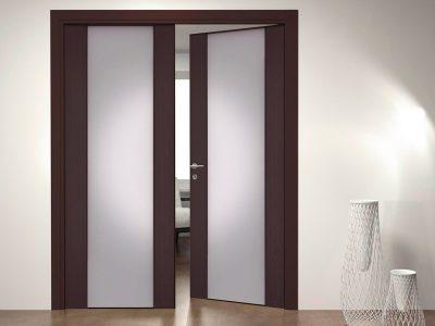 Межкомнатные двери с двумя створками в дизайне интерьера