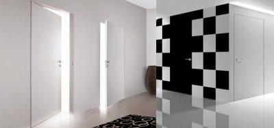 Двери, сливающиеся со стеной
