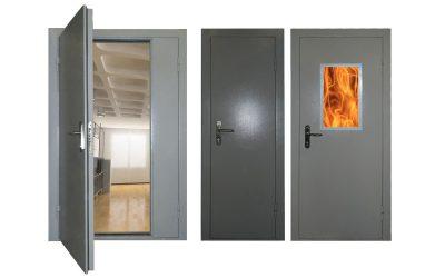 Стандартный вид промышленных специальных дверей