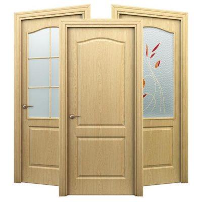 Внешний вид ламинированной двери