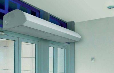 Тепловая завеса, используемая для монтажа на входном дверном проёме