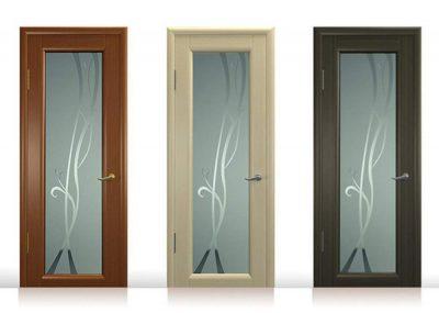 Межкомнатные двери с включением из триплекс стекла