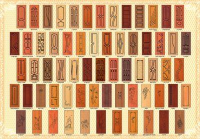 Многообразие накладок, которые можно использовать для входной двери