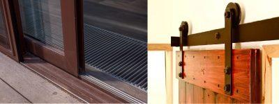 Напольная и подвесная роликовая система для раздвижных дверей