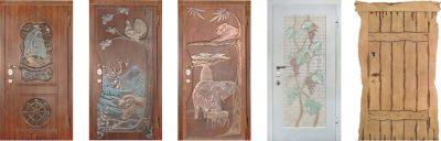 Нестандартные и неординарные элементы на двери, выполненные из МДФ