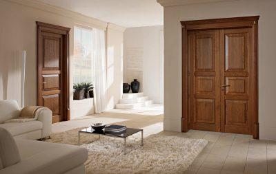 Интересный вариант двери, который гармонично сочетаться с общим дизайном интерьера