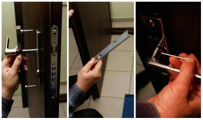 Замена системы безопасности металлической входной конструкции