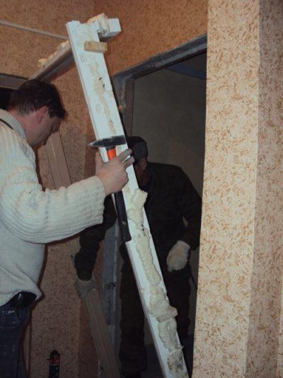 Демонтаж деревянной коробки