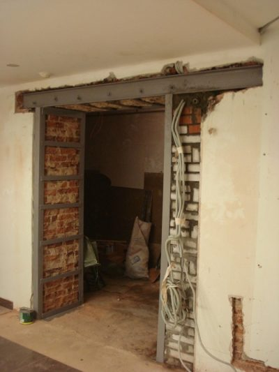 Перенос дверного проема на несущей стене