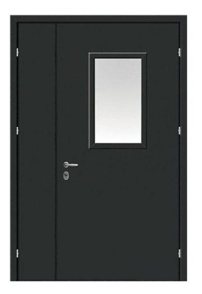 Металлические двери с разными створками