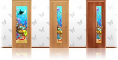 Двери с триплексом для детской комнаты
