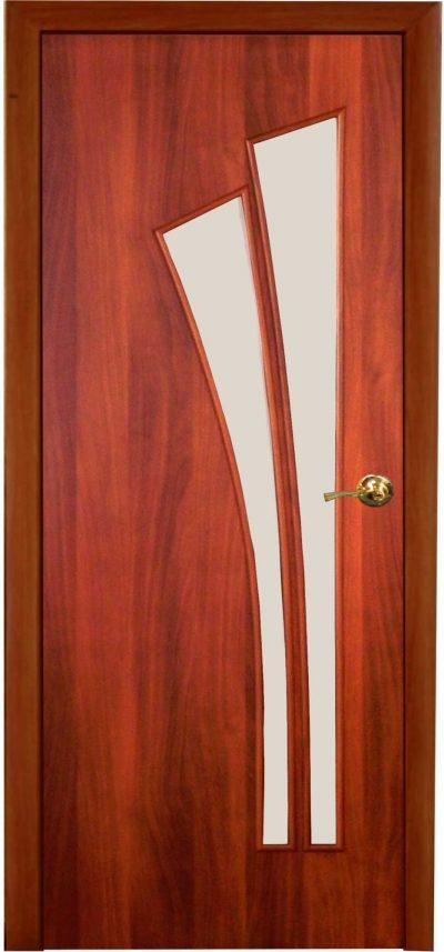 Ламинированная дверь со вставкой
