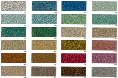 Варианты отделки молотковой краской