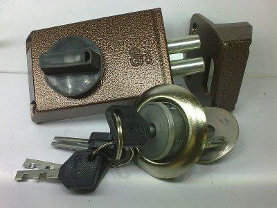 Накладной дисковый запорный механизм