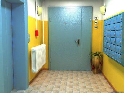 Металлические двери на лестничную площадку