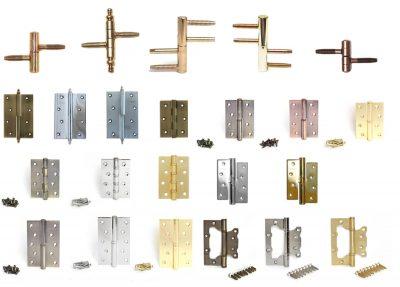 Примеры петель для дверей, которые представлены на рынке фурнитуры