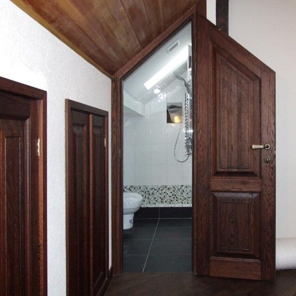 Необычный вариант перегородки для ванной
