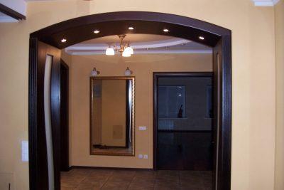 Встроенная подсветка в панель арки