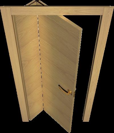 Ассиметричные двери типа «Книжка», которые станут интересной составляющей интерьера
