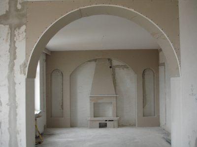Готовый каркас арки для отделки