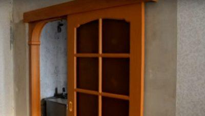 Раздвижная дверь на проем с закруглениями