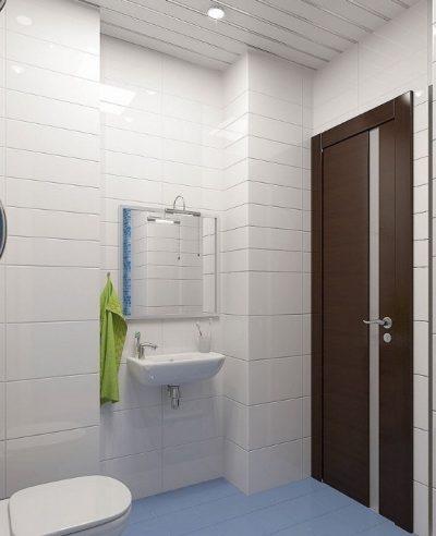 Дверь с ламинацией в ванной