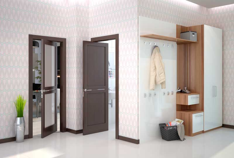 Межкомнатный дизайн с применением данной дверной конструкции
