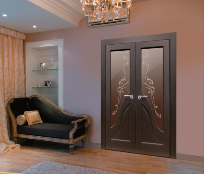 Модели на планке на двойных распашных дверных полотнах