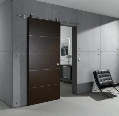 Стеклянные раздвижные немецкие двери