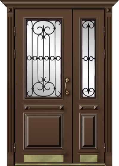 Дверь с дополнительными секциями
