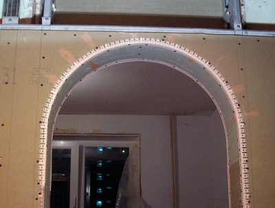 Изготовление проёма арки